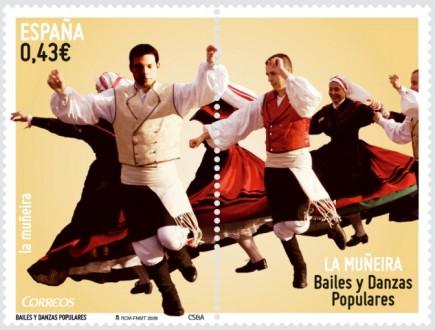 Sellos sobre bailes regionales, uno de ellos, la jota aragonesa