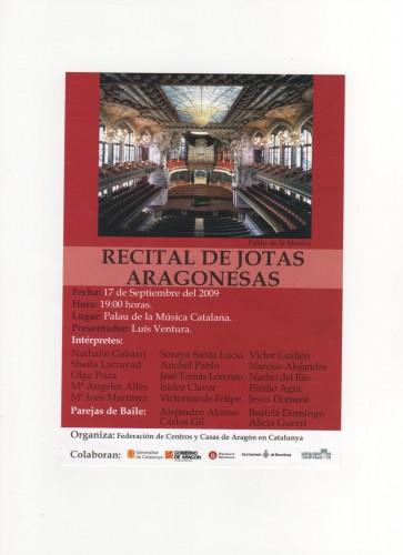 Jotas en el Palau de la música de Barcelona