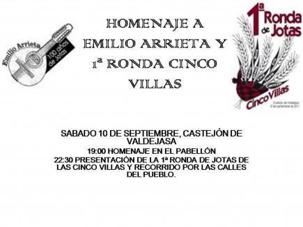 Gran Ronda de las Cinco Villas y Homenaje Emilio Arrieta (jotero de Castejón de Valdejasa)