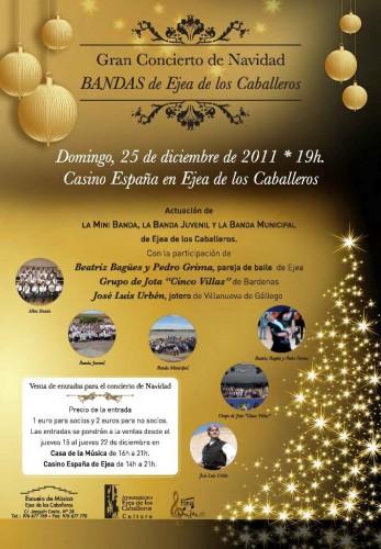 Concierto de Navidad en el Casino España de Ejea