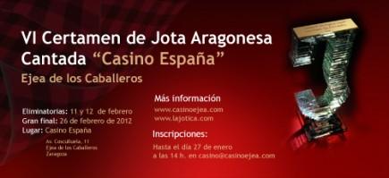 Listas de los participantes en el VI Certamen de jota aragonesa