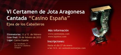 Retransmisión on line mañana del VI Certamen de Jota Casino España de Ejea de los Caballeros