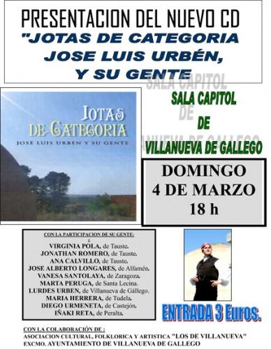 Presentación en Villanueva del nuevo disco de José Luis Urbén