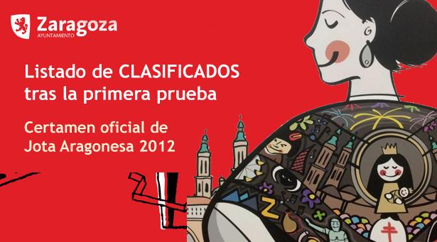 Listado de finalistas y semifinalistas del Certamen oficial de jota 2012