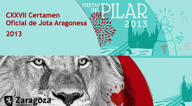 CXXVII Certamen Oficial de Jota Aragonesa: Fiestas del Pilar 2013