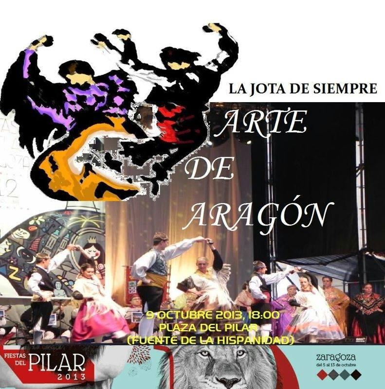 Arte de Aragón actuará en la plaza del Pilar el 9 de octubre