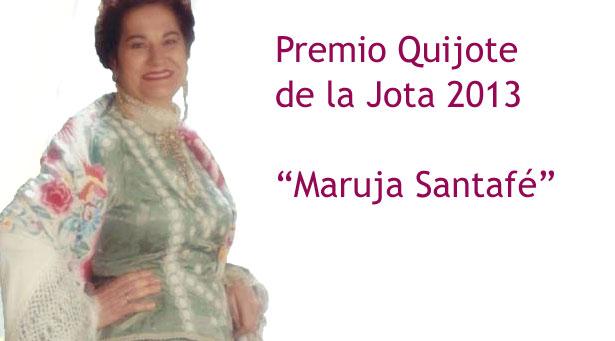 Maruja Santafé es la galardonada este 2013 con el Premio Quijote de la Jota