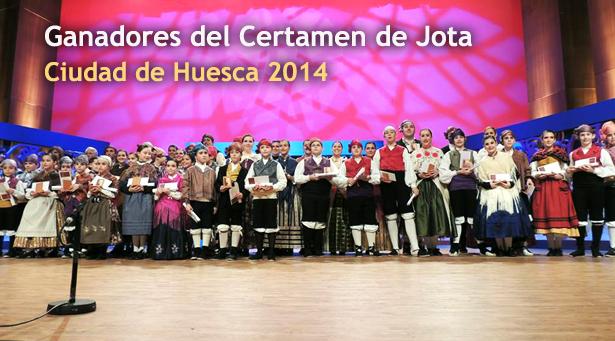 Campeones del Certamen de jota aragonesa Ciudad de Huesca 2014