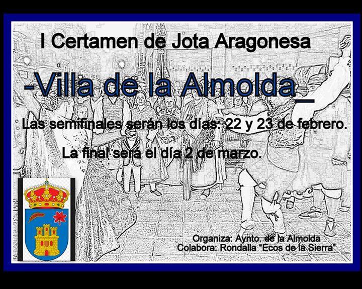 Premios del I Certamen de jota Aragonesa Villa de la Almolda 2014