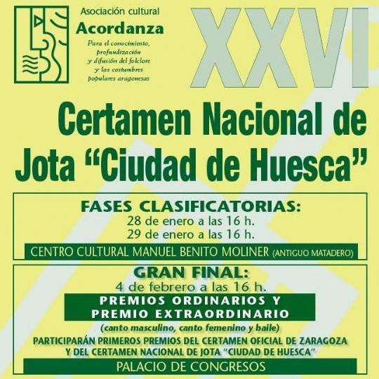 XXVI Certamen Nacional de Jota Ciudad de Huesca